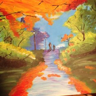 """""""Herbst"""" (70 x 50 cm Acryl auf Leinwand)"""